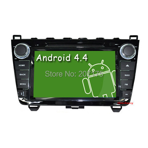 Hot ! Quad Core Android 4.4 Car DVD Head Unit for Mazda 6 Radio Tape Recorder with GPS Navi Canbus Wifi 3G SWC, Three Gifts !!!(China (Mainland))
