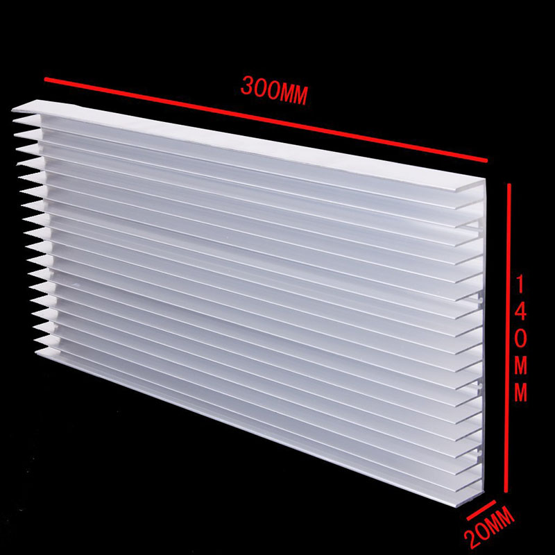 1 piece 300x 140x 20MM 8 x 3W / 20 x 1W LED Heatsink Aluminum Heat Sink Radiator for IC Electronic Chipset heat dissipation(China (Mainland))