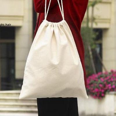 "100% Natural Canvas Cotton Drawstring Bag 17cm x 24cm (6.5""""x 9.5"") pocket shoe Organizer Cloth Storage Bags Favor Holder(China (Mainland))"