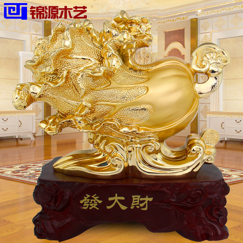 Jinyuan wooden crafts plated Fadacai cabbage ornaments Home Furnishing resin decoration living room table decoration(China (Mainland))