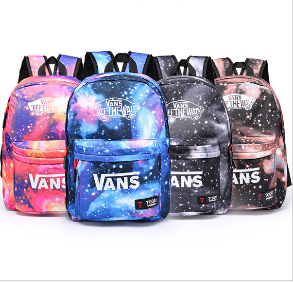 4 style School Youth Trend schoolbag 2015 new ladies female man shoulder bag backpack VANS Escolar bolsas mochila US Nina(China (Mainland))