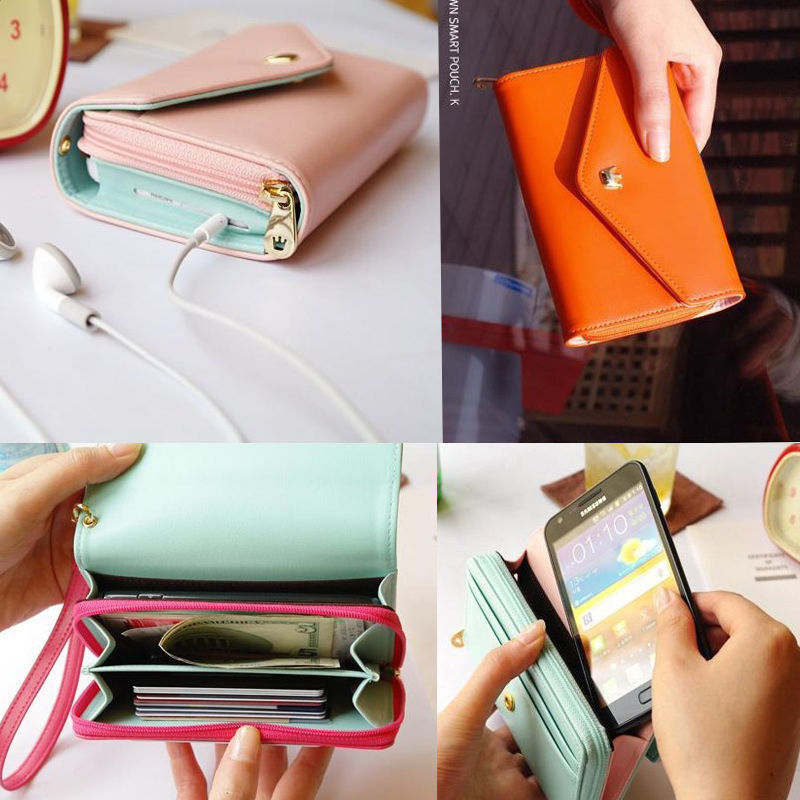 Luxury Card Wallet Purse Phone Flip Leather Case iPhone 4 4S iPhone4 s Mobile Bag Top Fahison Design Brand New - Forrest Technology store
