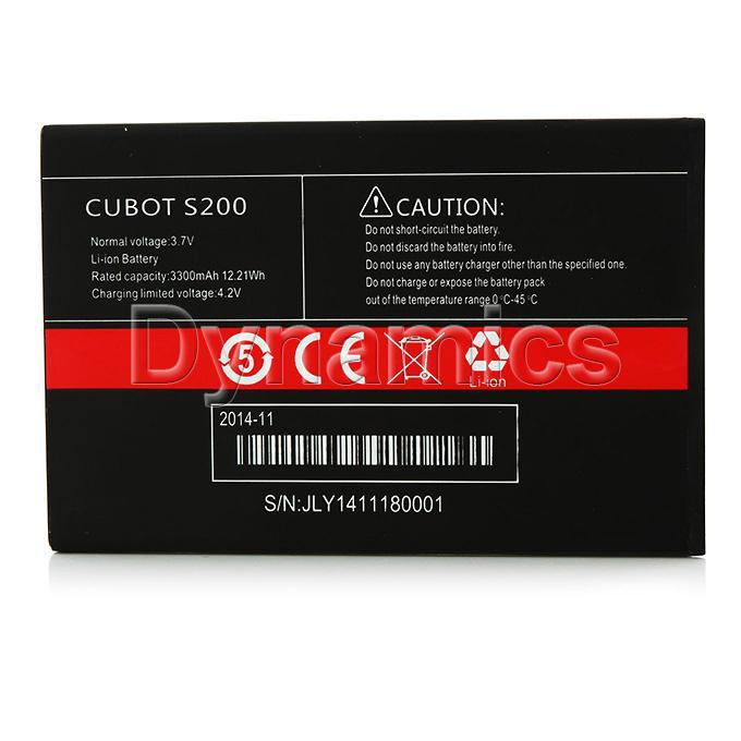 (Original) 3.7V 3300mAh Rechargeable Lithium-ion Battery for CUBOT S200 Smart Phone