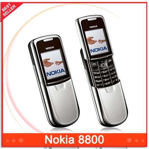 Unlocked Original Nokia 8800 Mobile Phone English / Russian keyboard GSM FM Bluetooth Phone(China (Mainland))