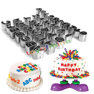 Hot Alphabet Letter & Number Fondant Icing Cutter 37 Piece Decorating Cake Mold Decorating Cutter Sugar craft Mold High Quality(China (Mainland))