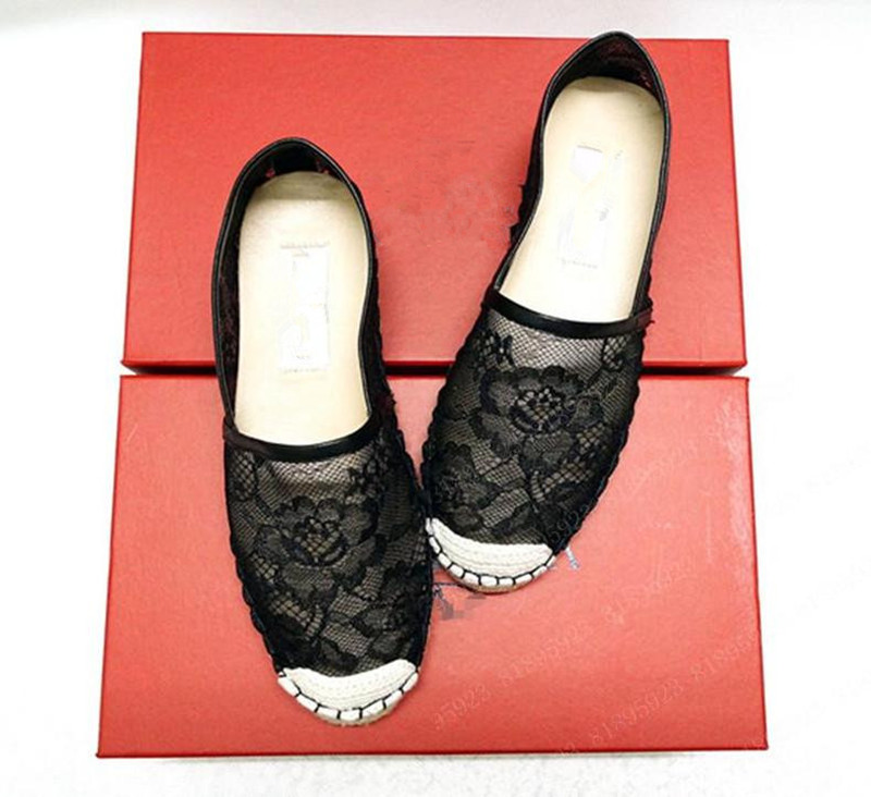 2013 New Women Lady Fashion Handmade Lace Espadrilles Shoes Casual Flat Shoes<br>