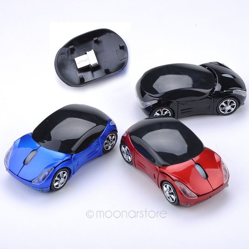1 Pcs Mini 2.4Ghz Wireless Optical Mouse Mice Car Shape USB Receiver For PC Computer Laptop Notebook USB Receiver YYDA1057*55(China (Mainland))