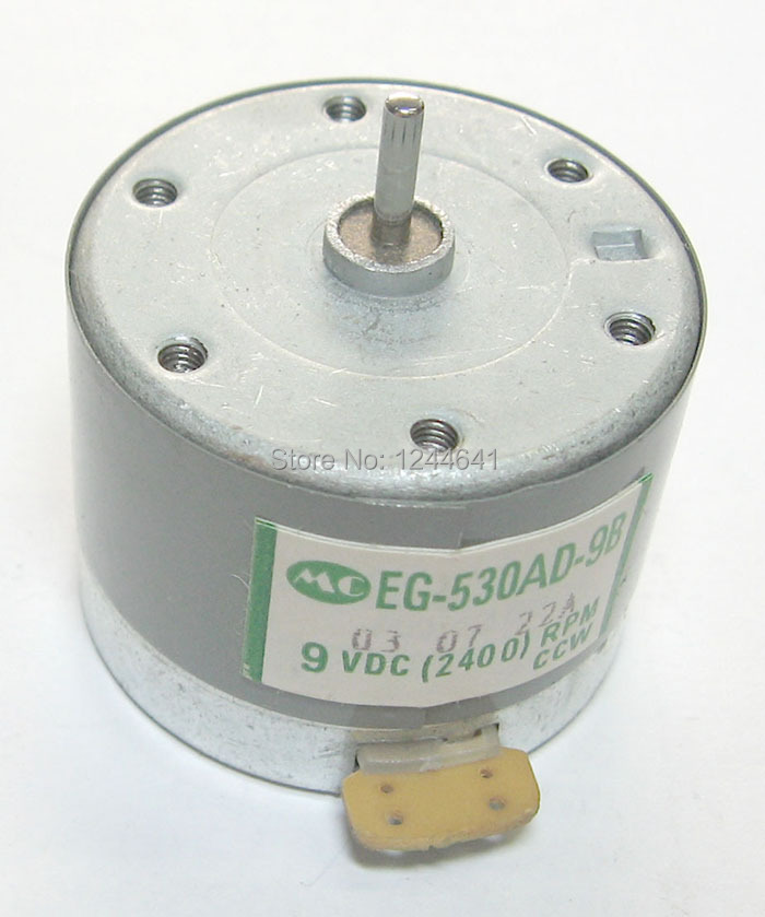 2PCS/Lot Mabuchi EG-530AD-9B DC 9V CCW 2400RPM EG530AD9B CD VCD DVD Spindle Motor free shipping with tracking number(China (Mainland))
