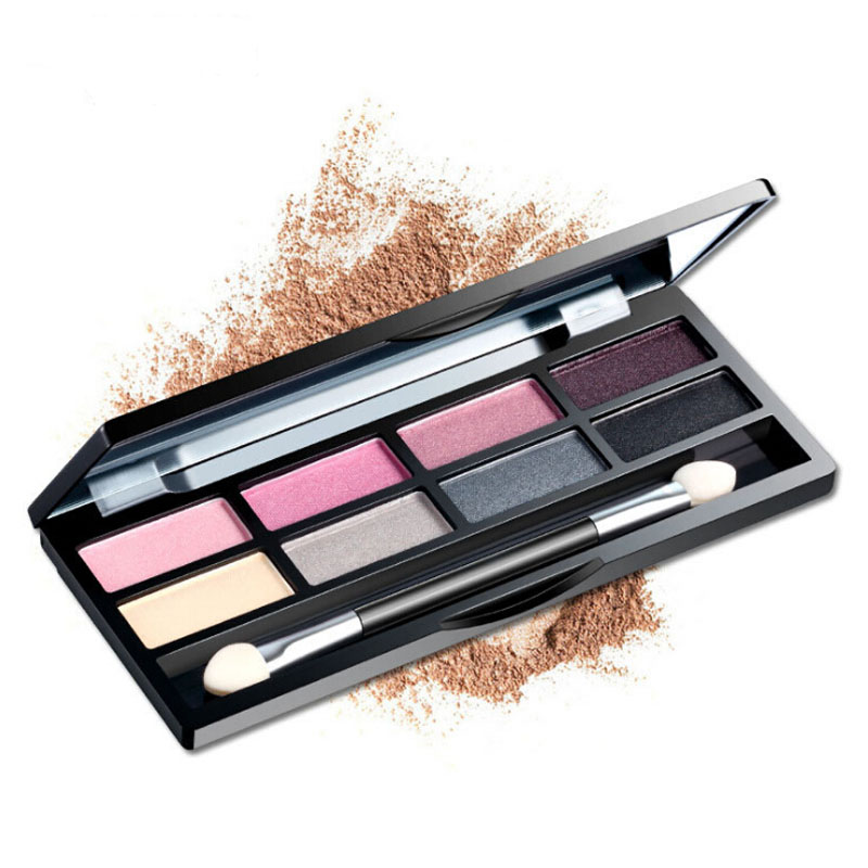 8 colors Eyeshadow dry and wet use Shimmer Eyeshadow Makeup Palette Waterproof Multicolor Eyeshadow(China (Mainland))
