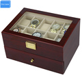 Send by DHL Luxury 20 Slots 2 Layer Rose Wood Glossy Lacquer Watch Box Wood Jewelry