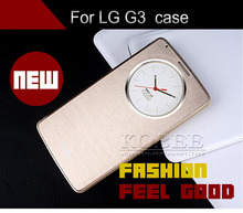 For LG G3 D830 D850 D831 D855 Automatic Sleep Case Cover,Smart Flip Window Stand Luxury PU Leather Accessories Case for LG G3(China (Mainland))