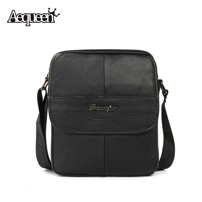 New Genuine Leather Men Crossbody Bags Fashion Business Style Man's Messenger Bag Male Casual Shoulder Bolsa Black Satchels(China (Mainland))