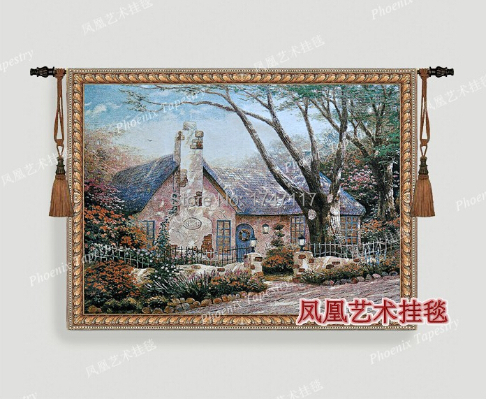 American country style oil painting series 100% cotton tapestry(China (Mainland))