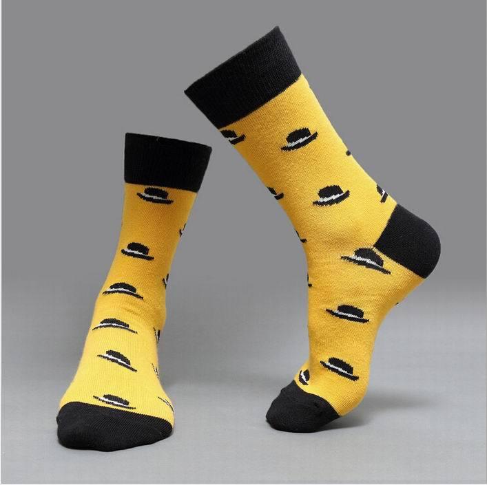 Direct Manufacturer 10pcs=5pairs=1lot, fashion brand winter long socks men socks, british style cotton in tube socks(China (Mainland))