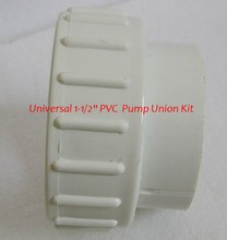 "Universal 1-1/2"" PVC Pool Spa Hot Tub Pump Union Kit,1.5 Inch Union Adapter Kit Replace for pump and heater(China (Mainland))"