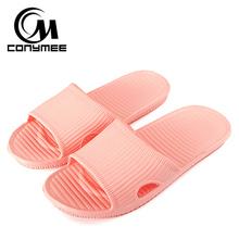 CONYMEE Scarpe Donna Estate Sandali Piatti 2018 Nuovi Uomini Donne Indoor Pantofole A Casa Ciabatte Da Bagno Solido Sandalias Zapatos Mujer(China)