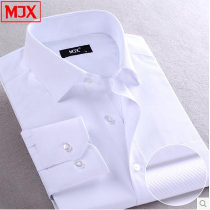 Brand MJX Solid Color Casual Dress Shirt Long sleeve Shirt Men Clothes Camisas Camisa Social Slim
