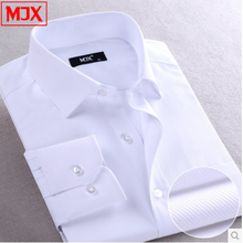Brand MJX Solid Color Casual Dress Shirt Long-sleeve Shirt Men Clothes Camisas Camisa Social Slim Fit Plus Size 4xl men