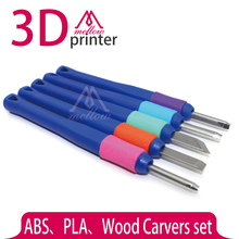 3D Printer DIY Tool Kit Wood Carvers set ABS and PLA Carving knife graver for 3D