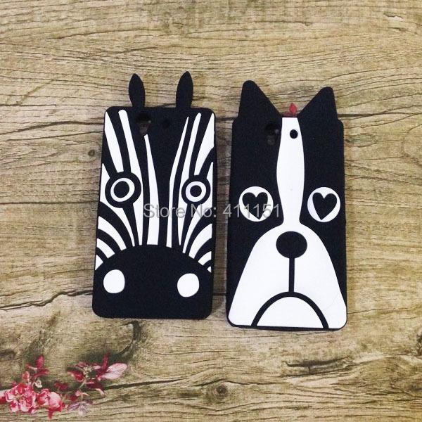 Cute Cartoon Zebra Dog Soft Silicone Rubber Back Case Sony Xperia Z L36H - ALEX ZHOU Store store
