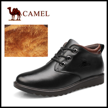 2014 warm Genuine Leather waterproof men boots,comfortable black winter boots, quality ankle boots men snow boots shoes(China (Mainland))