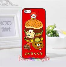 Rilakkuma with Ronald McDonald hot-selling cell phone case cover for iphone 4 4s 5 5s se 5c 6 6 plus 6s 6s plus 7 7 plus #2415(China (Mainland))