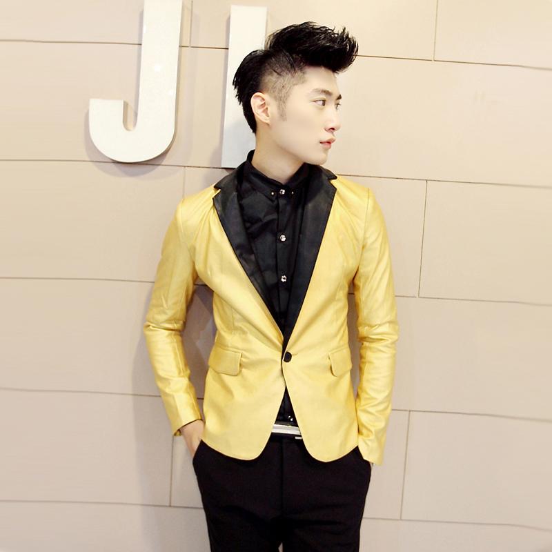Popular Gold Suit Jacket Leather-Buy Cheap Gold Suit Jacket