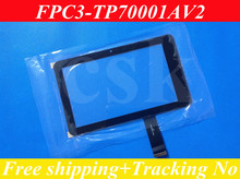"(Ref: FPC3-TP70001AV2/04-0700-0618 V2)7"" inch LCD touch panel LCD  touch digitizer glass for Freelander PD10 PD20  tablet PC(China (Mainland))"