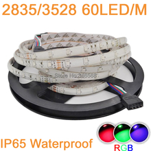 Buy 5M DC12V 300LEDs 3528 2835 SMD 12V 60 LED/M Flexible LED Strip Light IP65 Epoxy Waterproof RGB Color party home decoration for $6.08 in AliExpress store