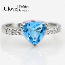 Mystic Topaz Jewelry Silver Ring 925 Korean Wedding Rings CZ Diamond Jewellery Anel Feminino Ruby Jewellery 60% off  Ulove Y3555