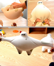 2015 hot novelty gift Big hero 6 Baymax Vent Ball Action Figure Toy Soft Robot Doll Relax Squeeze Stress Relief(China (Mainland))