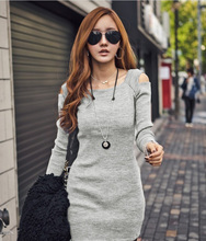 Women Fashion Sweater Dress Party Evening Plus size Casual Slim Good Quality Knit Dresses New 2015 winter Hot Selling Knitwear(China (Mainland))
