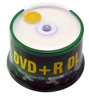 Dl dvd r discs large capacity 8.5g 8x double layer d9 blank cd 50(China (Mainland))