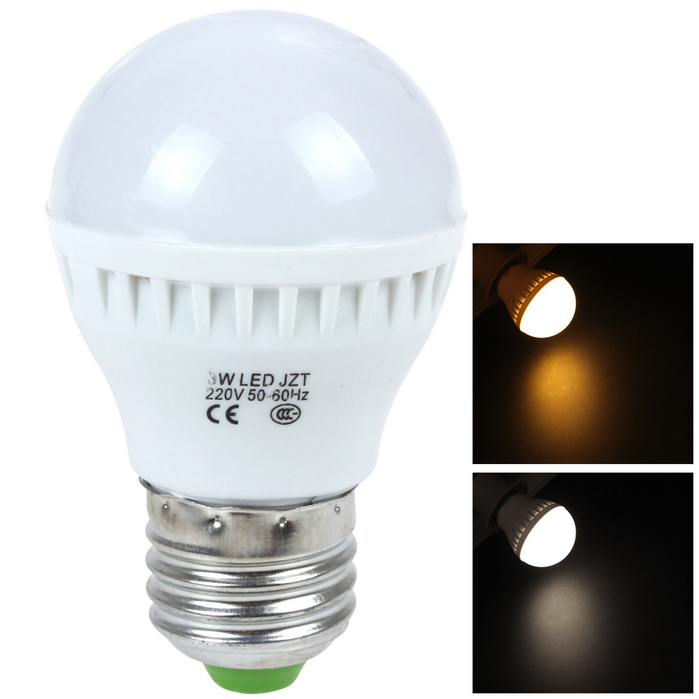 High Quality 3W E27 220V 12 x 2835 LED White / Warm White Light Energy-saving Bulb for Home Furnishing / Commercial Use(China (Mainland))
