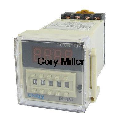 AC 110V 50/60Hz Panel Mount DH48J 1-999900 Digital Counter Relay<br><br>Aliexpress