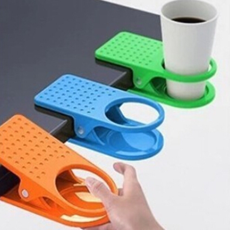 Desk Cup Holder Drink Clip Lap Table Folder Reading Creative Design Table Manager 1 PC CMB1-HD0055(China (Mainland))
