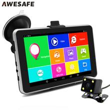7 inch HD Car GPS Navigation Android Navigator Rear view Tablet pc Bluetooth/AVIN/WIFI/Navitel or Europe map sat nav Vehicle gps(China (Mainland))