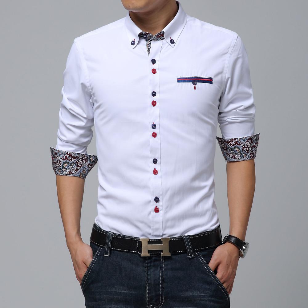 Shirt design brands - Man Shirt Causal Brand White Dress Social Xxxl Shirts Desigual Military Shirt Colar Masculine Polos Camisas