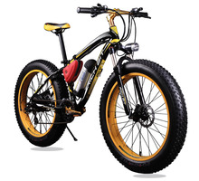 New Bicycle 36V  Lithium Battery Electric Snow Bike SHIMAN0 24 Speeds Mountain Bike Electric Bicycle Road Bike Black and Yellow