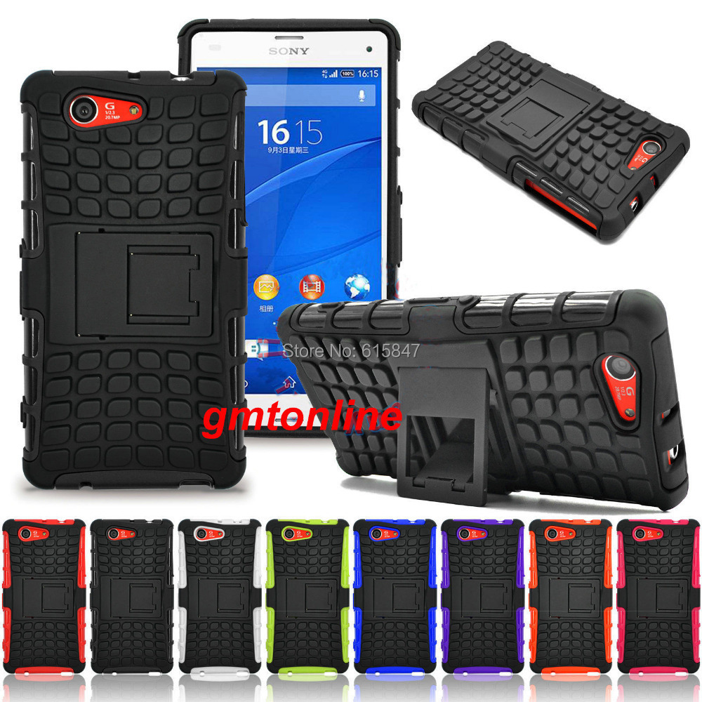 Hybrid Impact Armor Rugged Case Stand Cover Sony Xperia Z3 Compact / Mini - hkdatang store