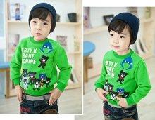 Children baby catoon letter sweater girls boys spring autumn Thick cotton warm winter sweatshirt kids sweatshirts 5pcs 2015(China (Mainland))