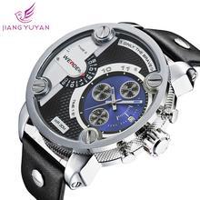 Un año de garantía Dropship japón MIYOTA movimiento reloj correa piel genuina hombres Weide reloj de pulsera le53