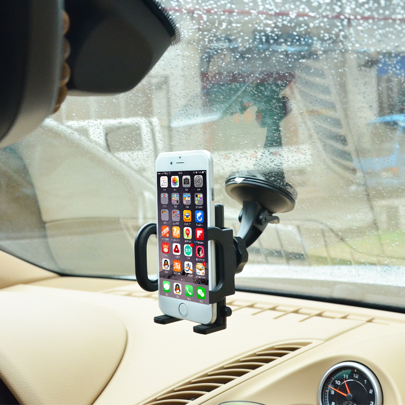 Universal 360 Degree Rotating Windshield mobile phone soporte movil Car Mount Bracket Holder Stand for iPhone lenovo Cellphone(China (Mainland))