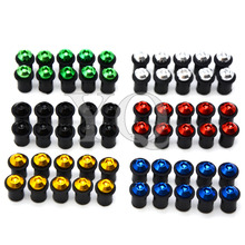 motorcycles parts Windshield Spike Bolts Screws M5 Nuts 2006-2014 Yamaha FZ1 FZ6 Fazer FZ8 FZ6R XJ6 MT-07 MT-09 MT09 13 cn - WG Motorcycles Accessories Store store