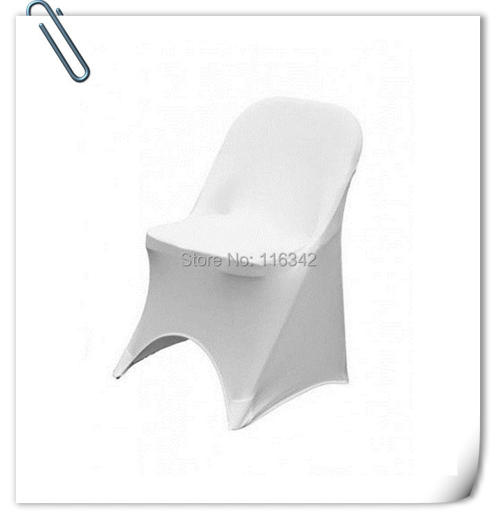 2015 New Syle !!! 50pcs white folding spandex chair covers & lycra chair cover free shipping(China (Mainland))
