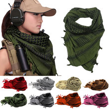 Shemagh Thicken Muslim Hijab Multifunction Tactical Scarf Neck Arabic Keffiyeh Wrap bandana palestine Islamic military scarves(China (Mainland))
