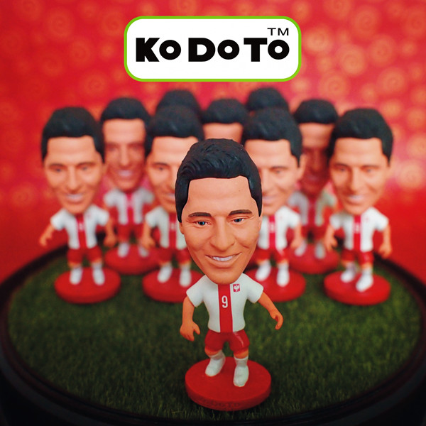 KODOTO 9# LEWANDOWSKI (POL) 2014 World Cup Soccer Doll (Global Free shipping)(China (Mainland))