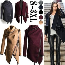 2015 Autumn and Winter Women Coat Long Cashmere Overcoats  Desigual Woman Wool Coats Down  Manteau Abrigos Muje(China (Mainland))