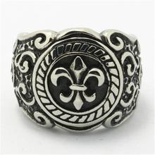 316L Stainless Steel Cool Punk Gothic Fleur De Lis Silver Newest Ring