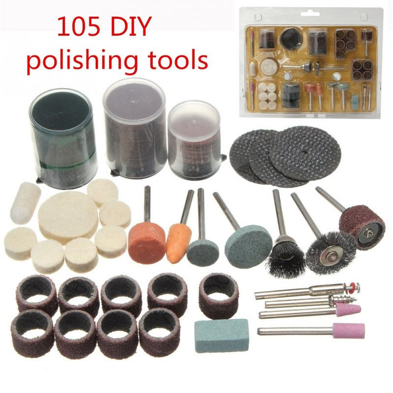 105psc/lot Drill Bit Rotary Set Kit Grinding Sanding Engraving Polishing Tool DIY polish engraving/cutting/polishing/wood/metal(China (Mainland))